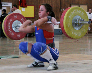 Weightlifting Shoes assisting the Clean & Jerk